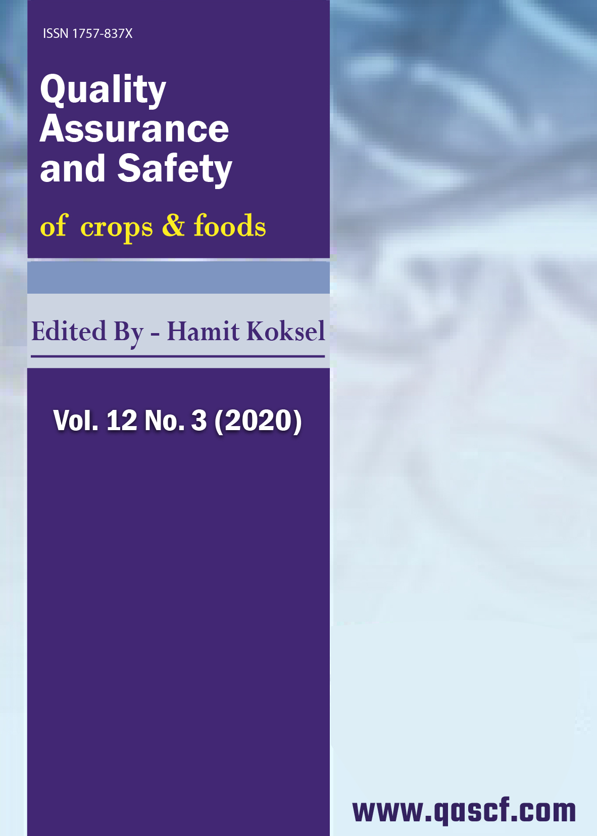 Quality Assurance and Safety of Crops & Foods: Vol. 12 No. 3 (2020)